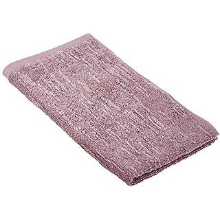 Portico Organic Slub Hand Towel, 16 by 28-Inch, Smoke Purple