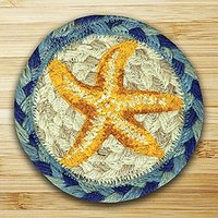 Earth Rugs 378 Star Fish Coasters, Set Of 4