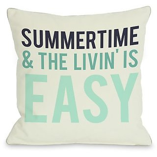 Bentin Home Decor Summertime & the Livin Is Easy Throw Pillow by OBC, 20