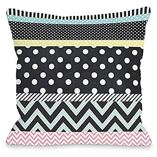 Bentin Home Decor Multi Patterns Throw Pillow by Mary Beth, 18