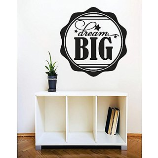 Design with Vinyl 5 C 2426 Decor Item Dream Big Image Quote Wall Decal Sticker Color : Black, 30 x 30-Inch, Black