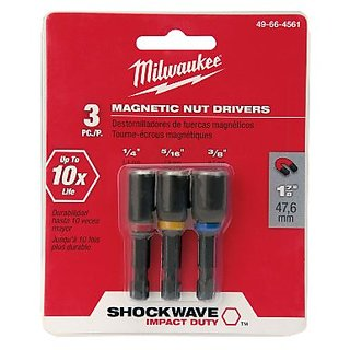 Milwaukee 49-66-4561 Shockwave 1-7/8-Inch Magnetic Nut Driver Set