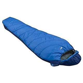 Millet Baikal 750 Sleeping Bag: 43 Degree Synthetic Sky Diver/Ultra Blue, Reg/Left Zip,