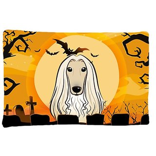 Carolines Treasures BB1802PILLOWCASE Halloween Afghan Hound Fabric Standard Pillowcase, Large, Multicolor