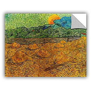 ArtWall Art Appealz Removable Wall Graphic, Vincent Vangoghs Evening Landscape with Rising Moon, 18 by 24-Inch