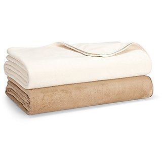 Hudson Park Ultra Soft Reversible King Blanket Ivory