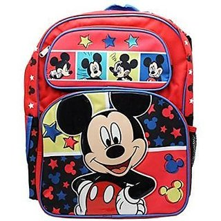 Disneys Mickey Mouse Color Portrait Full Size Childrens Backpack (16in)