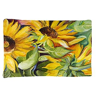 Carolines Treasures JMK1122PILLOWCASE Sunflowers Fabric Standard Pillowcase, Large, Multicolor