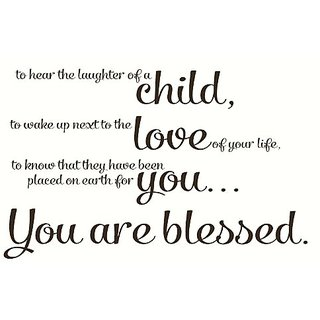 Wall Dcor Plus More WDPM2357 To Hear The Laughter of a Child Blessed Wall Sticker Quote Vinyl Decal, 23-Inch x 37-Inch,