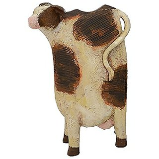 Fantastic Craft Tall Standing Cow Figurine, 6-1/2 by 10-2/3-Inch, Brown
