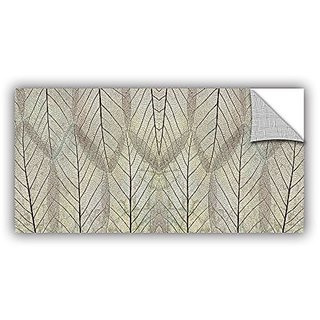 ArtWall Cora Nieles Leaf Design Appeelz Removable Graphic Wall Art, 18 by 36