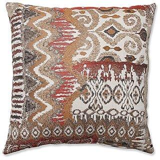 Pillow Perfect Medley Throw Pillow, 16.5-Inch, Bronze