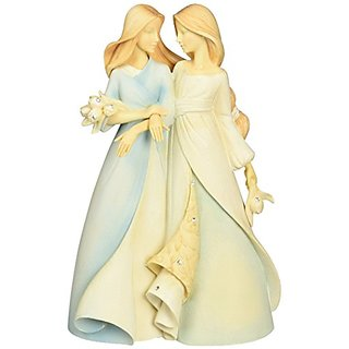 Enesco Foundations Collectible Family Figurine - Sister To Sister 4047743