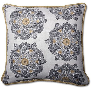 Pillow Perfect Suri Medallion Greystone 16.5-Inch Throw Pillow