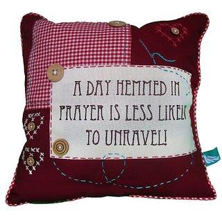 Fair Trade Pillow Cover a Day Hemmed in Prayer