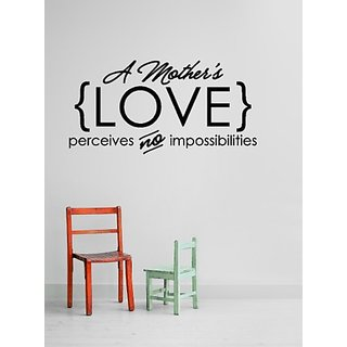 Design with Vinyl Black Star 872 A Mothers Love Perceives No Impossibilities Mom Quote Vinyl Wall Decal, 11-Inch x 26-In