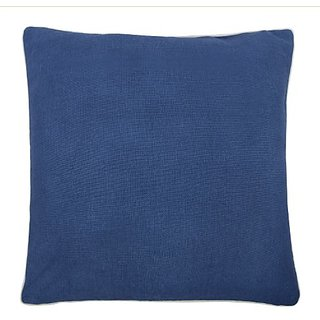 thomaspaul Linen/Cotton Solid Pillow, 22 by 22-Inch, Marine