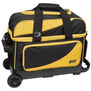BSI Double Ball Roller Bag, Black/Yellow