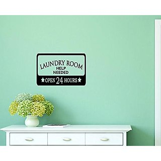 Design with Vinyl Moti 1346 2 Laundry Apply Within Open Sign Housekeeping Peel & Stick Wall Sticker Decal, 16