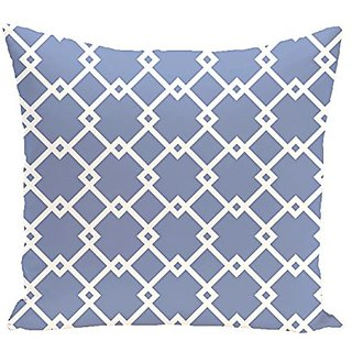 E By Design Link Lock Geometric Print Outdoor Pillow, 20-Inch, Cornflower