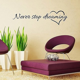 Caryla Home Decor Black Wall Sticker English Proverbs for Living Room Bedroom Decor (22.4*5.9in)
