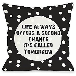 Bentin Home Decor Second Chance Dot Throw Pillow w/Zipper by OBC, 18