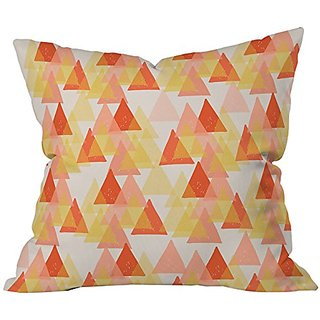 DENY Designs Ali Benyon Retro Geo Throw Pillow, 18 x 18