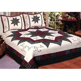 American Hometex Morning Star Quilt Set, Queen
