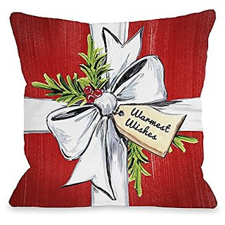 Bentin Home Decor Warmest Wishes Throw Pillow by Timree Gold, 16