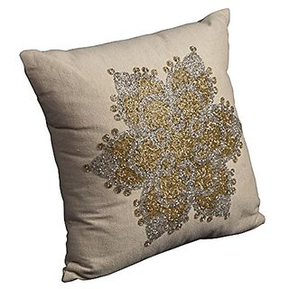 Mina Victory by Nourison A2754 Decorative Pillow, Beige, 16