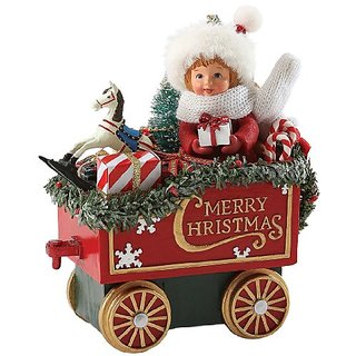 Department 56 Possible Dreams Santas All Aboard Girl Car Santa, 5.5-Inch