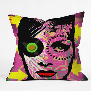 DENY Designs Amy Smith Pink 1 Throw Pillow, 16 x 16