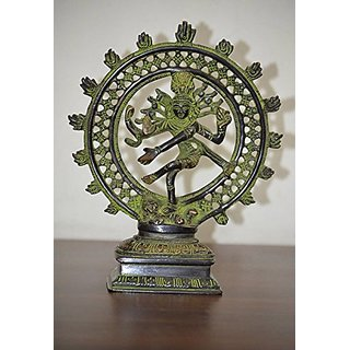 Ethnic Brass Figurine Of Lord Natraj, Religious Idol, Brass Statue, Dancing Shiva, Valuable collectible, Handcrafted Hom