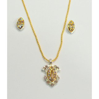 Delicate  Golden Necklace With Earrings.GLITZY BY ROOHIE