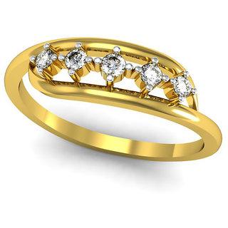 JewelHub SI-IJ Diamond  Ring 0.15 ct /1.85 gm 18k Yellow Gold