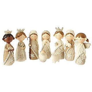 9 Pc. Faux Knit Nativity