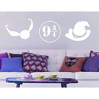 GMDdecals Sorcerer Magic Wizard Set LARGE Vinyl Wall Decal 3 Piece Potter Sti...