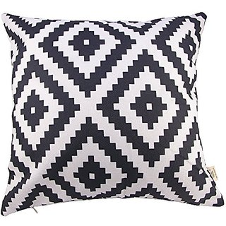 HOSL Cotton Linen Square Decorative Throw Pillow Case Cushion Cover 17.3*17.3 Inch (44CM*44CM)