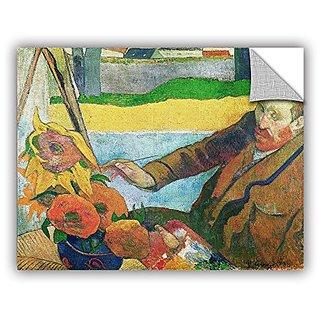 ArtWall Paul Gauguins Van Gogh Painting Sunflowers Art Appeelz Removable Graphic Wall Art, 36 x 48