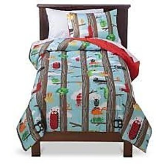 CircoTM Bug Comforter Set - Blue/Brown - Full