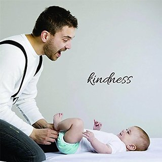 Design with Vinyl Moti 1827 3 Kindness Inspirational Life Quote, Self Esteem Peel & Stick Wall Sticker Decal, 10