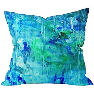 DENY Designs Rosie Brown Blue Grotto Throw Pillow, 26 x 26