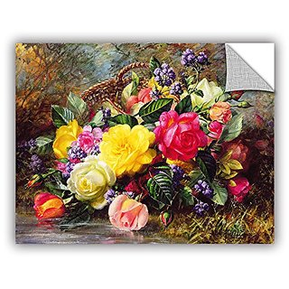 Albert Williamss Roses from A Victorian Garden, Art Appeelz Removable Wall Art Graphic, 24 X 32