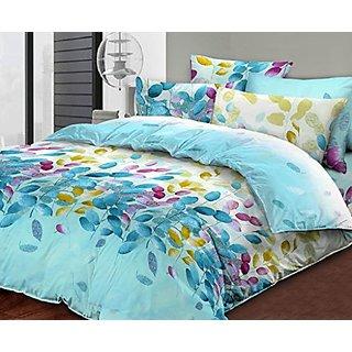 Essina Carlo Collection, 100% Cotton 2pc Duvet Cover Set, Pillow Sham, Twin, Elida