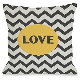 Bentin Home Decor Love Chevron Throw Pillow by OBC, 20