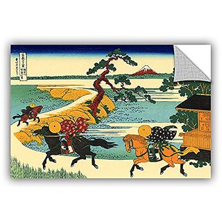ArtWall Katsushika Hokusais The Fields of Sekiya By The Sumida River Removable Mural Wall Art, 32 x 48