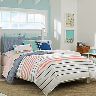 Nautica Comforter Set, King, Staysail Coral