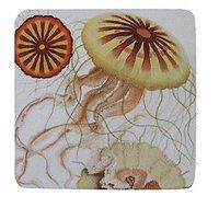 Golden Hill Studio Jelly Fish Coaster (Set Of 8), Multicolored