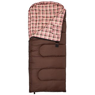 TETON Sports Celsius Junior for Girls -7C/ 20F Sleeping Bag, Brown/Pink Liner, Right Zip,66-Inch x 26-Inch