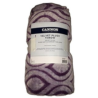 Cannon Velvet Plush Throw Moroccan Trellis Print Orchid 50x70 In